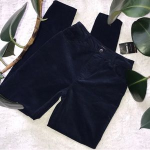 NWT navy blue Corduroy velvet high waisted pants